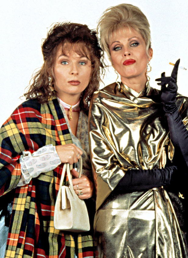 Jennifer Saunders and Joanna Lumley in 'Absolutely Fabulous'