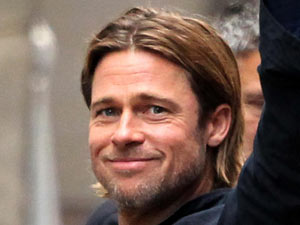 Brad Pitt on set for World War Z