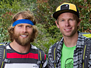 Pro Snowboarders Andy Finch and Tommy Czeschin