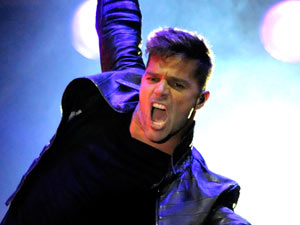 Ricky Martin performs during his 'Music+Soul+Sex' international concert tour in Montevideo, Uruguay