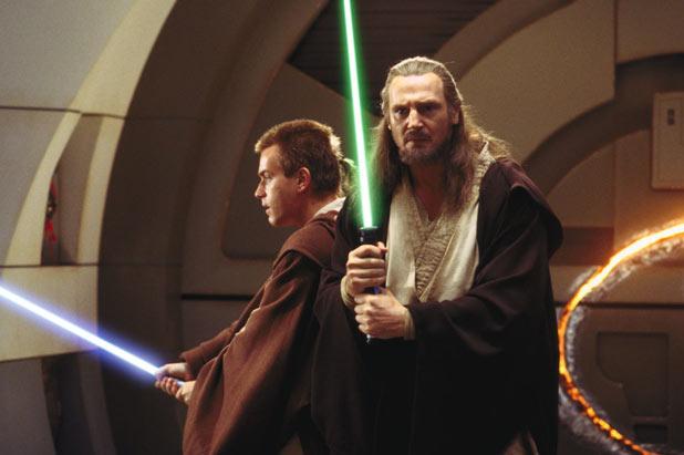 Qui-Gon Jinn (Liam Neeson) and Obi-Wan Kenobi (Ewan McGregor) in Star Wars Episode I: The Phantom Menace