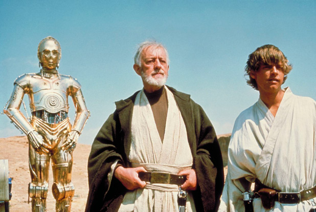 LuJedi master Obi-Wan Kenobi (Sir Alec Guinness)