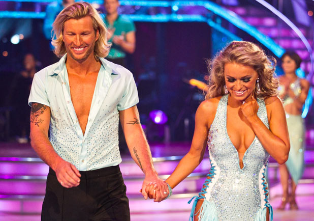 Robbie Savage and Ola Jordan
