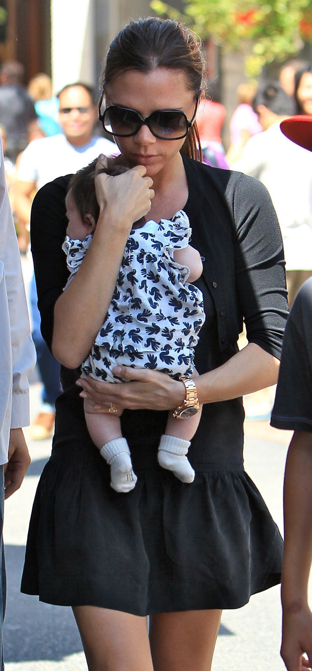 Victoria Beckham shops in The Grove in LA with baby Harper