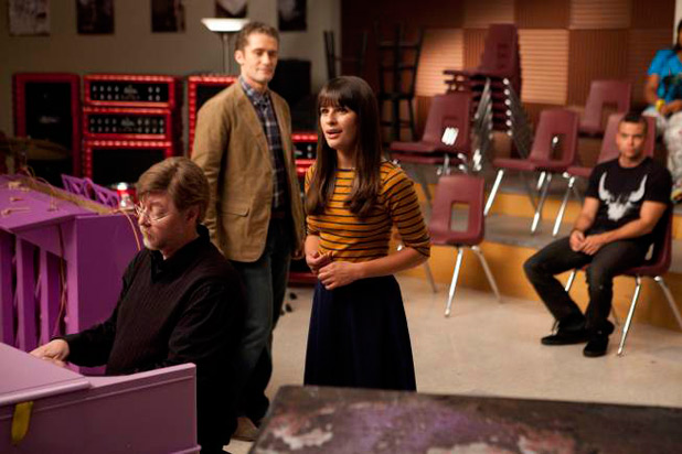 Will Shuester and Rachel Berry in 'The Purple Piano Project' episode
