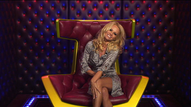 Pamela Anderson in the Big Brother house