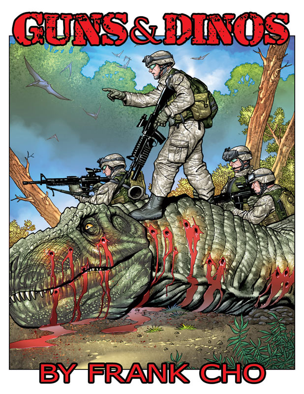 Guns and Dinos by Frank Cho