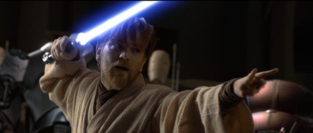 Obi-Wan enters battle