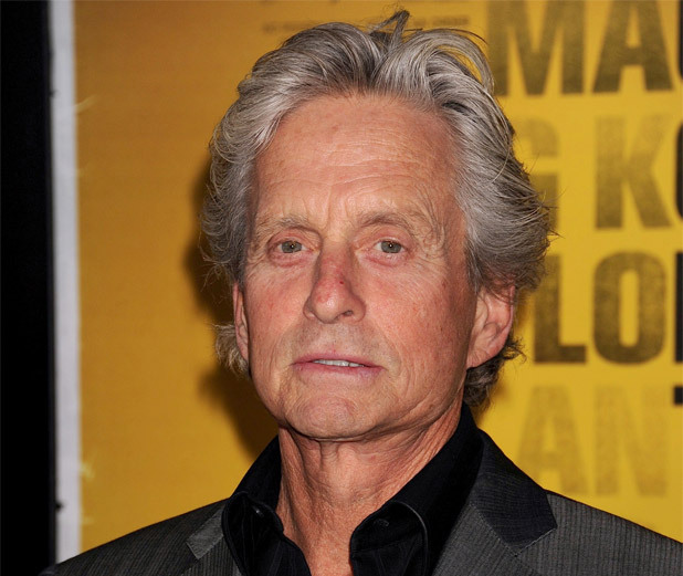 Michael Douglas attends the New York City premiere of 'Contagion'