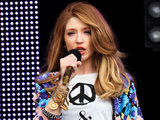 Nicola Roberts performs at the Sainsbury's super Saturday in London