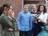 Tina realises that she has been feuding with Tyrone's new girlfriend Kirsty