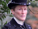 Glenn Close is seen disguising herself as the titular butler in the first trailer.