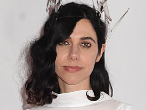 PJ Harvey arriving for the 2011 Barclaycard Mercury Music Prize