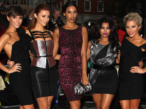 The Saturdays arriving at the 2011 GQMen of the Year Awards
