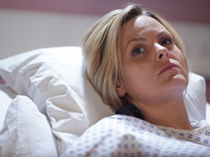 Tanya insists that she can't stay overnight at the hospital