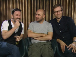 Ricky Gervais, Karl Pilkington and Stephen Merchant DS interview
