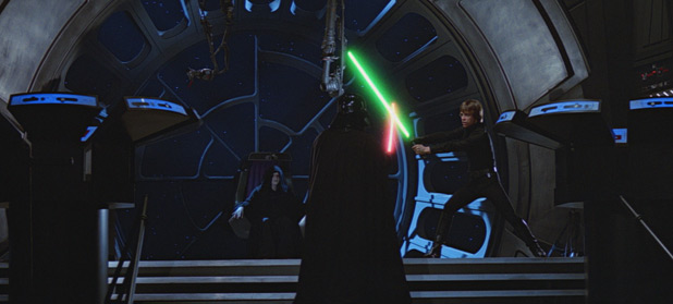 Luke and Darth Vadar