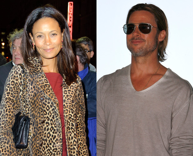 Brad Pitt and Thandie Newton