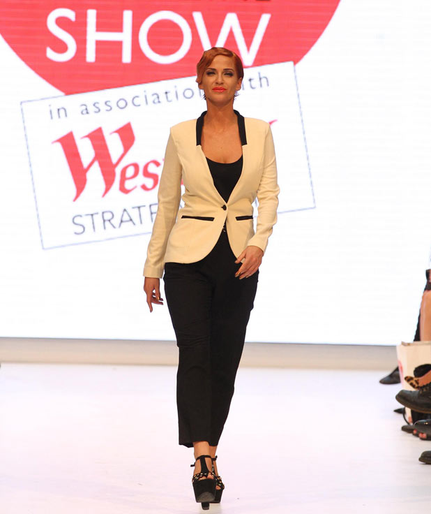 Sarah Harding debut catwalk performance at the Look Magazine Fashion Show