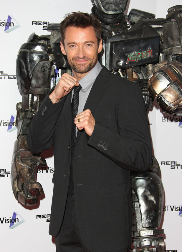 Hugh Jackman arrives for the Real Steel preview screening at the BT Tower London.