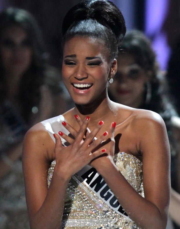 Miss Angola Leila Lopes is named Miss Universe 2011