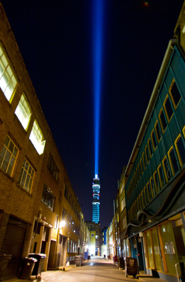 September 16: London's BT Tower becomes world's largest lightsaber