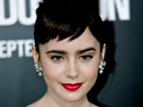 Lily Collins at the LA premiere for 'Abduction'