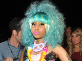 Nicki Minaj attends the Betsey Johnson Spring 2012 collection for New York Fashion Week