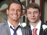 Charlie G Hawkins and Joe Swash from EastEnders