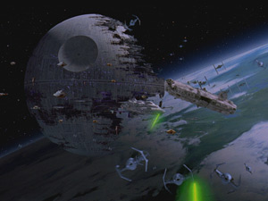 The Death Star II comes under fire