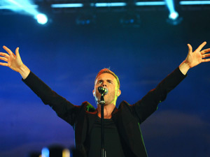 Gary Barlow performs on stage at the BBC Radio 2 Live in Hyde Park Festival in London