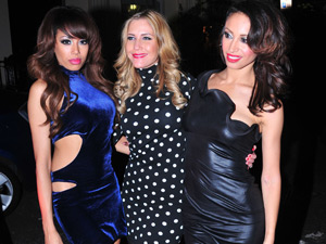 The Sugababes arriving at the Mint Leaf Restaurant in central London