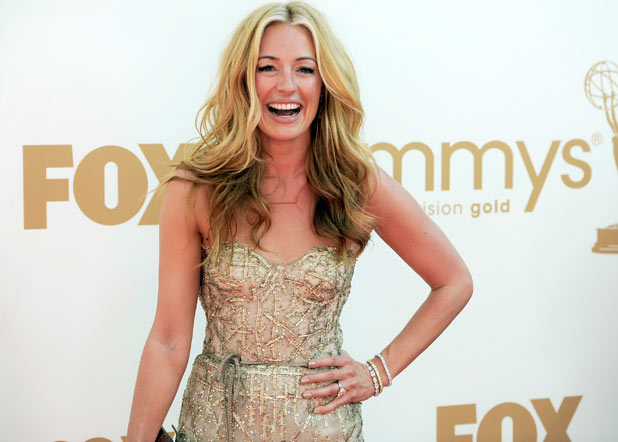 Cat Deeley on the red carpet at the 63rd Primetime Emmy Awards