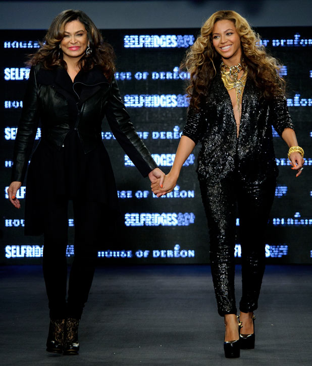 Tina Knowles and U.S singer Beyonce Knowles, launch their collection House of Dereon