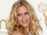 Maria Bello on the red carpet at the 63rd Primetime Emmy Awards