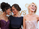 Annie IIonzeh, Minka Kelly, and Rachael Taylor on the red carpet at the 63rd Primetime Emmy Awards