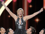 Host Jane Lynch performs at the 63rd Primetime Emmy Awards