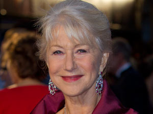 Helen Mirren arrives on the London red carpet for The Debt
