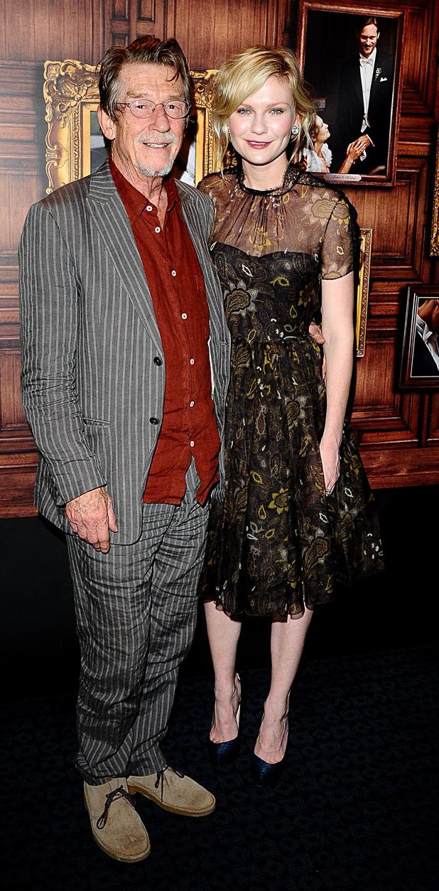 John Hurt and Kirsten Dunst