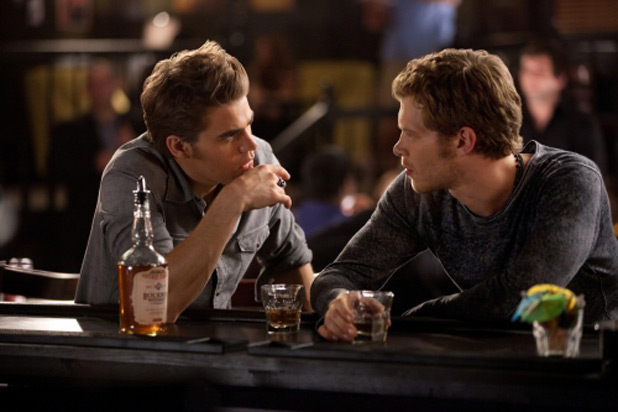 Paul Wesley as Stefan and Joseph Morgan as Klaus