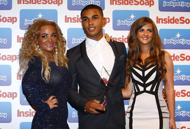 Chelsee Healey, Lucien Laviscount and Rebecca Ryan