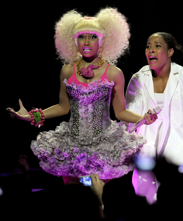 Nicki Minaj performs during the iHeartRadio music festival