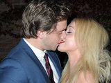 James Atherton (Will Savage) and Jorgie Porter (Theresa McQueen) kiss