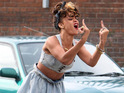 Rihanna causes more commotion filming new music video 'We Found Love'.