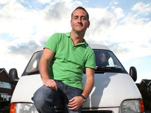 Will Mellor in 'White Van Man'