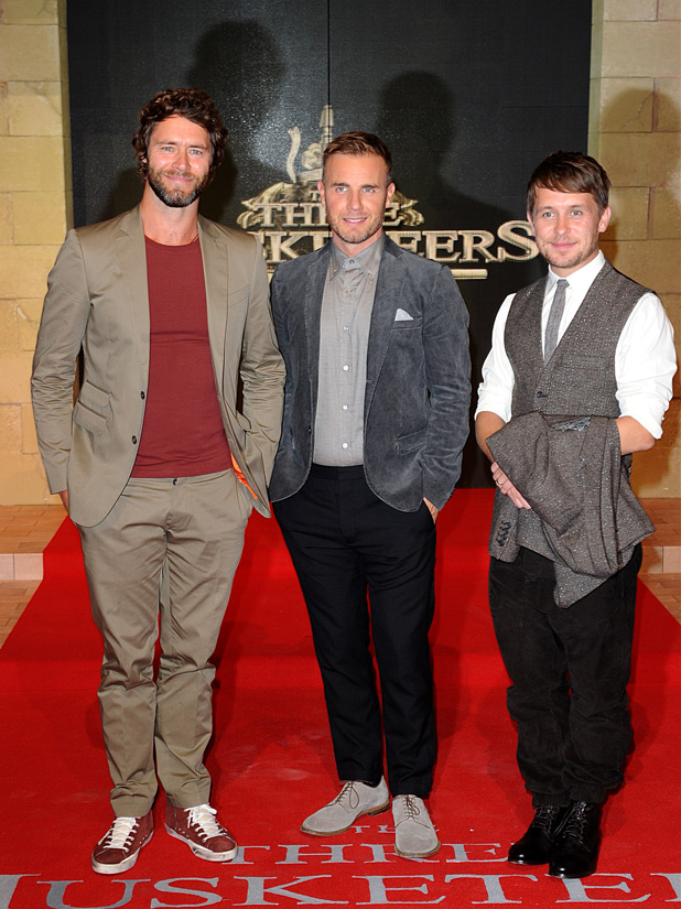 Howard Donald, Gary Barlow and Mark Owen