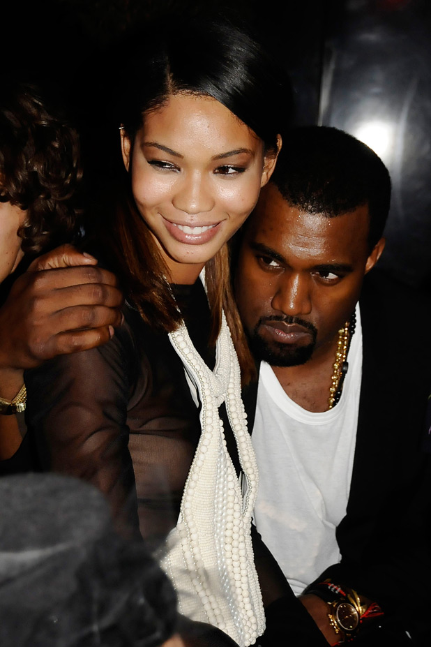 Kanye West and Iman Chanel
