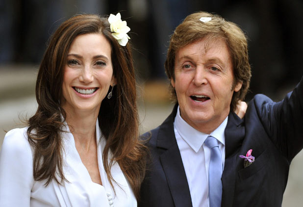 Sir Paul McCartney and Nancy Shevell leave Westminster Registry Office in north London after they got married.