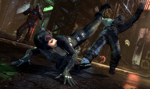 Catwoman attacks