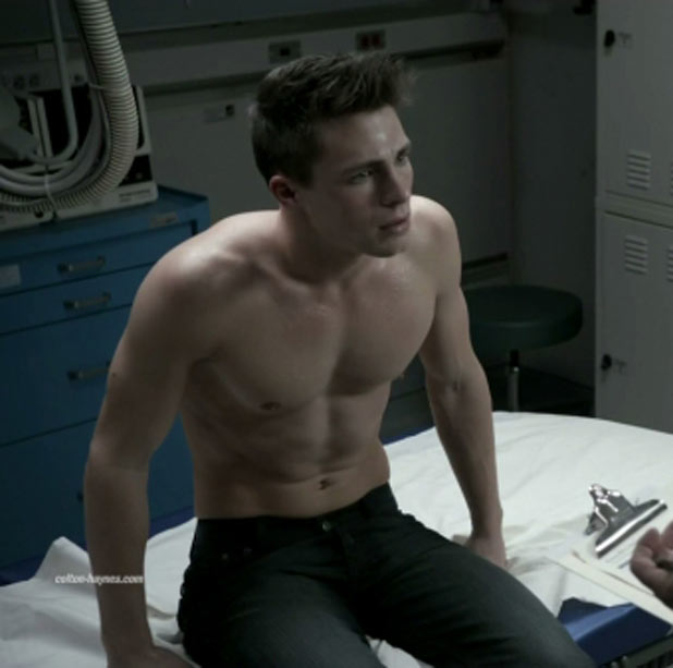 Colton Haynes and a doctor